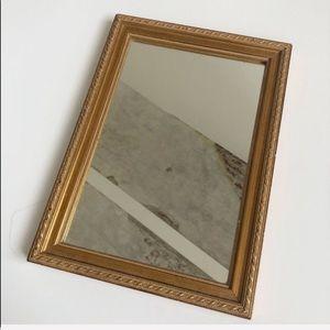 "Small 13""x9""Gold Mirror / Fragrance Tray"